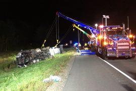 SEMI VS. CAR ACCIDENT LEAVES TWO DEAD