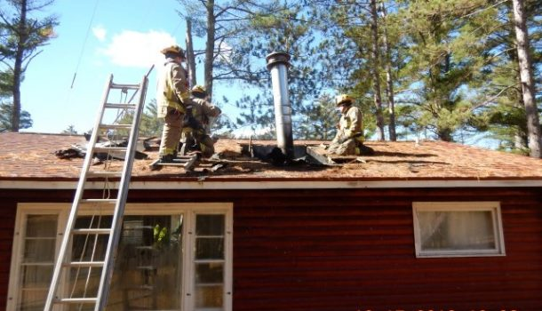 WOOD STOVE FIRE DAMAGES HOME IN ADAMS