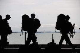 HUNDREDS RALLY TO SEND OFF TROOPS