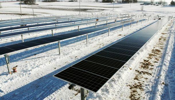 SOLAR GARDEN CONSTRUCTION HEATS UP