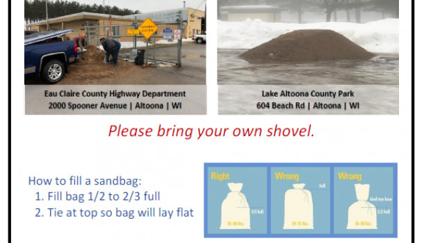 CINDER CITY OFFERS SAND BAGS FOR FLOODING