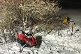 SPEED A FACTOR IN 2 SNOWMOBILE CRASHES