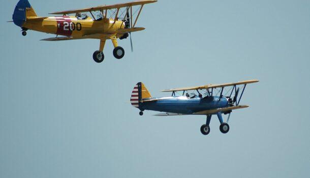 Pilot Okay After WWII Era Biplane Crash